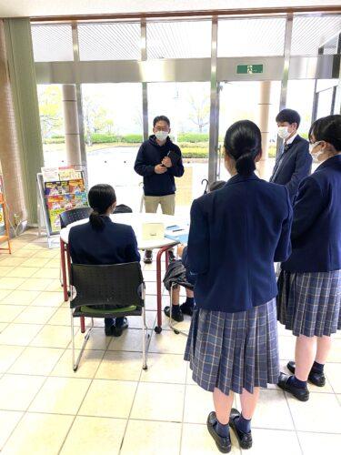 高志館高校の4人の学生さんが佐賀市清掃工場を見学に来られました!